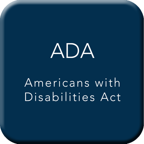 American with Disabilities Act Button