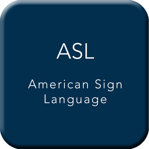 American Sign Language Button