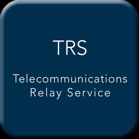 Telecommunications Relay Service Button